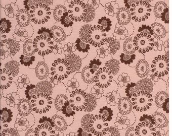 Brown beige cotton sateen fabric