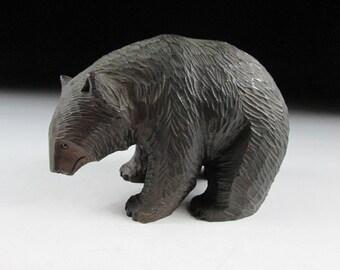 Small Hokkaido Bear Wood Carving, Higuma Wood Carving, Ainu Bear, Hokkaido Bear, Koedo