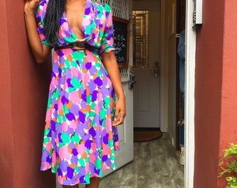 Swingy floral dress