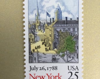 Postage Stamp, New York stamp, Unused Postage, Qty 30 pieces See Description
