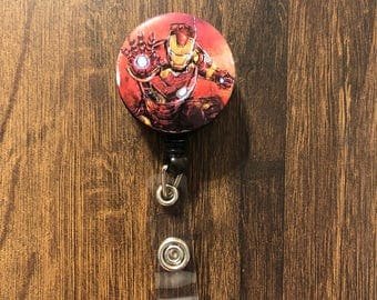 Iron Man Retractable Badge Holder