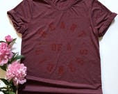 Womens Heart of a Lioness Maroon tone on tone tshirt   LIMITED EDITION  