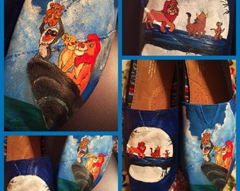 Custom painted Lion King Toms . Designed and personalized just for you!