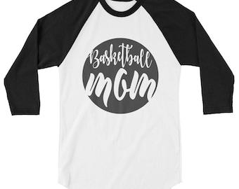 Basketball Mom 3/4 sleeve raglan shirt