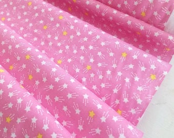 Tiny Happy Lucky - Shooting Star(Pink) - Cynthia Frenette - Robert Kaufman - Sewing Fabric - Tiny print fabric - Quilt fabric