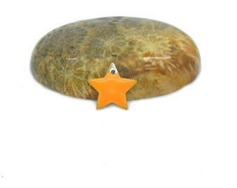 10 orange 12mm star sequins