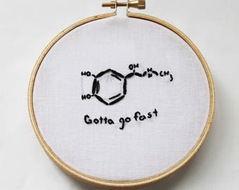 Chemistry Adrenaline Molecule Embroidery