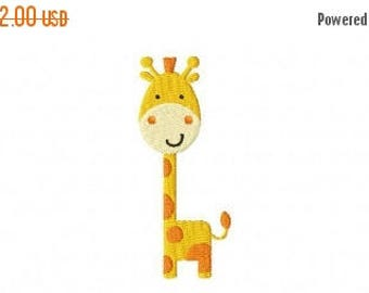 50% OFF - Baby Giraffe Embroidery Design Multiple Formats Available - Instant Download