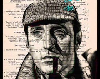 Basil Rathbone Graphic Art Beautifully Upcycled Vintage Dictionary Page Book Art Print,Actor Art Print
