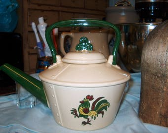 Vintage Pottery Teapot by Metlox, Poppytrail, Made in California, lid