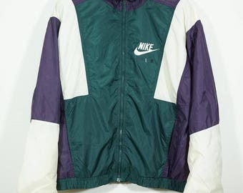 Vintage Nike Air Multi COlor Winbreaker Jacket Size Large L / Nike  Windbreaker / Nike Jacket / Nike WIndrunner
