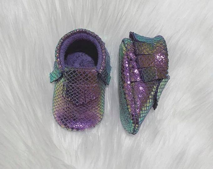 Mermaid Tail Baby Moccasins