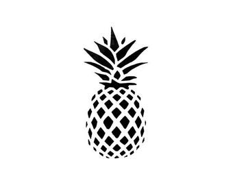"Mini Pineapple Stamp, tropical fruit stamp, gift tags stamp, card stamp, stationary stamp, pineapple, tropical stamp, 1.1"" x 0.6"" (minis94)"