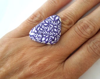Polymer Clay Ring, Audjstable Ring