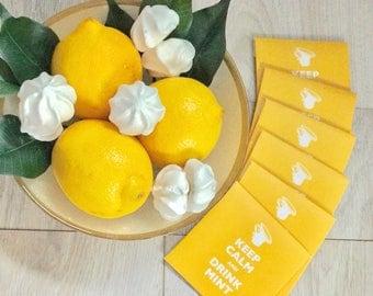 Lemon meringue tea bag envelopes
