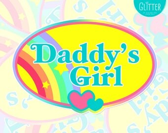 Daddy's Girl, Polly Pocket Style Holographic Sticker