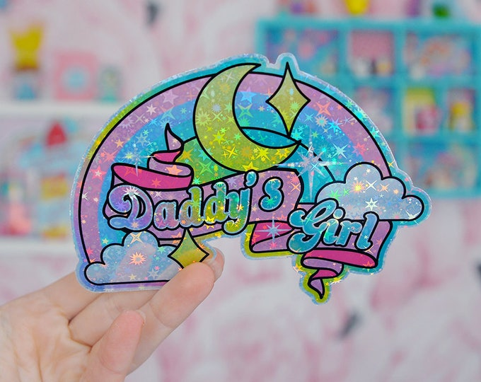 Daddy's Girl, DDLG Rainbow Holographic Sticker