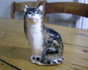 Babbacombe Pottery Tortoiseshell Cat Figurine