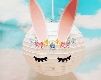 bunny light shade/ rabbit light shade/hanging  decoration/ gift for girls/ baby room/ girls room/ easter bunny/ bunny lover/ rabbit lover