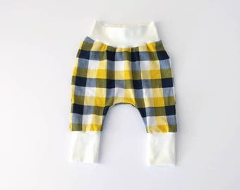 Baby and toddler plaid harem pants // harem pants // leggings // boy leggings // girl leggings