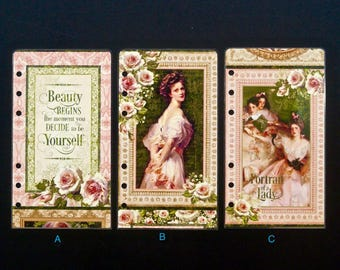 """Laminated dashboard - Personal size - """"Beauty begins the moment you decide to be yourself"""""""