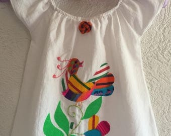 Beautiful Mexican peasant dress , Baby bloomer,  Party Fiesta Spring Summer Birthday
