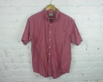Vintage L.L. Bean short sleeve button up shirt