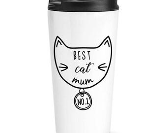 Best Cat Mum Travel Mug Cup