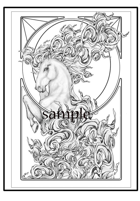 Circus Horse Adult Coloring Page By Cate Edwards-7972