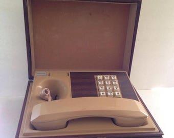 Deco Tel Executive 1970's Box Touch Tone Desk Telephone Collectible