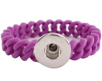 KB9718 Purple Stretch Silicone Bracelet ~ 183mm