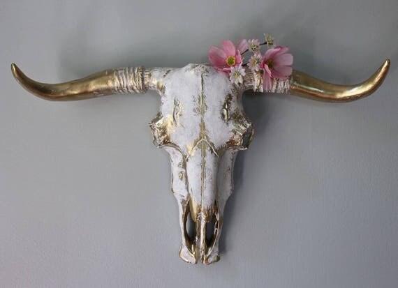 Bull Head Skulls : bull skull faux taxidermy wall decor cow head wall mount ~ Hamham.info Haus und Dekorationen