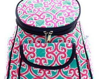 Quilted Geometric Backpack with free monogram
