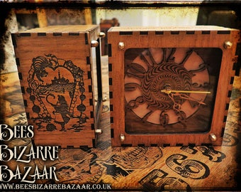 Alice in Wonderland Clock - Steampunk - Laser Cut