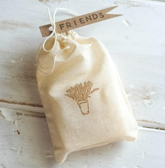 LAVENDER LACE Avocado Bar | 4oz | Muslin Drawstring Bag with Fun Flag Tags | Give a Little Love!