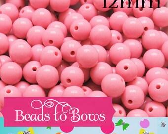 OVERSTOCK SALE 12mm Pink Bubblegum Beads, Acrylic Bubblegum Beads, Chunky Beads, Gumball Beads, Supply  Beads, Jewelry Supply