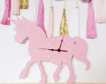 Unicorn Clock | Wall Clock  | Laser cut Nursery & Kids Decor