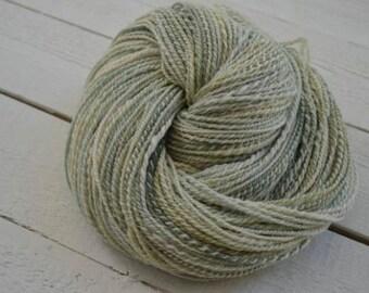 MI Cormo Lime-Lemon Worsted Weight Hand Spun Yarn