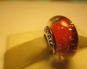 New Authentic Pandora 925 Ale Silver Disney Snow White Red Bead Charm