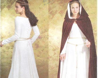 Butterick 4377 Misses' Medieval Costume Pattern, 6-12