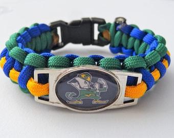 Notre Dame Fighting Irish Paracord Bracelet