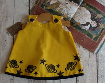 Blockprinted Luna Space Dress available 0-24months
