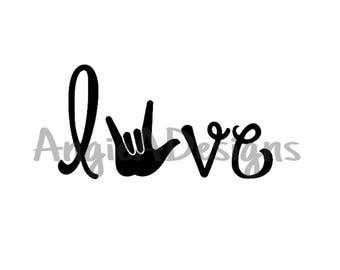 Love - ASL I Love You Hand SVG