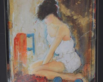 """Janet Treby """"Camisole"""" - Signed Serigraph -"""