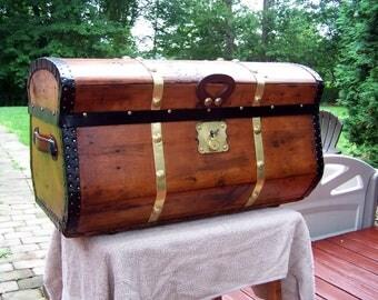 Antique Jenny Lind travel trunk