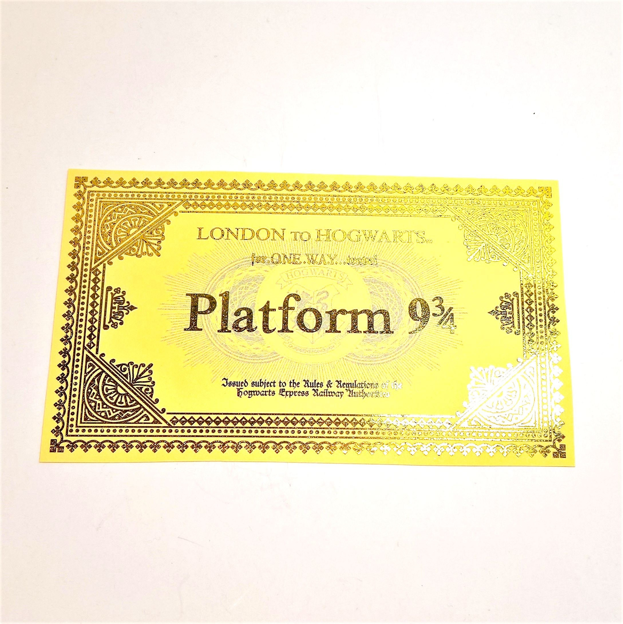 Hogwarts Express Golden Ticket - 5 invitations for Harry Potter ...