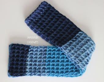 Crochet Scarf Pattern-Instant Download-Waffle Stitch Scarf-Neckwarmer-Winter Accessory-Caron Cake-Crochet Pattern-Pattern by Amanda Crochets