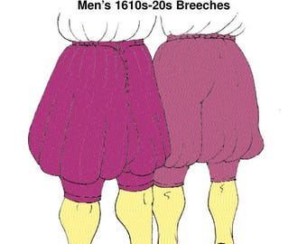 RH109. 16th 1620'S Breeches sewing pattern.  Early 17th century Men's Breeches. TO CLEAR. Reconstructing History