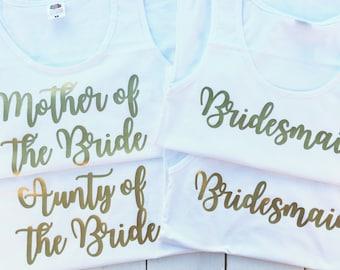 Bridesmaid Tops | Hen Party Tops | Hen Party Vests | Hen Party Shirts | Hen Do Tops | Bridesmaid Vests | Bridal Party Tops | Bride Vests