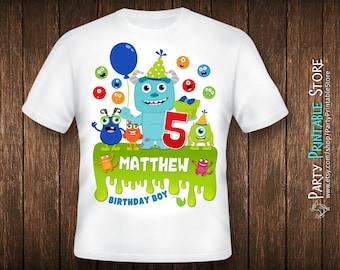 Birthday Boy Shirt, Monsters Inc Birthday Shirt, Monsters Inc Party Shirt, Iron On Monster, Monster Iron On, Monster Birthday Shirt Family